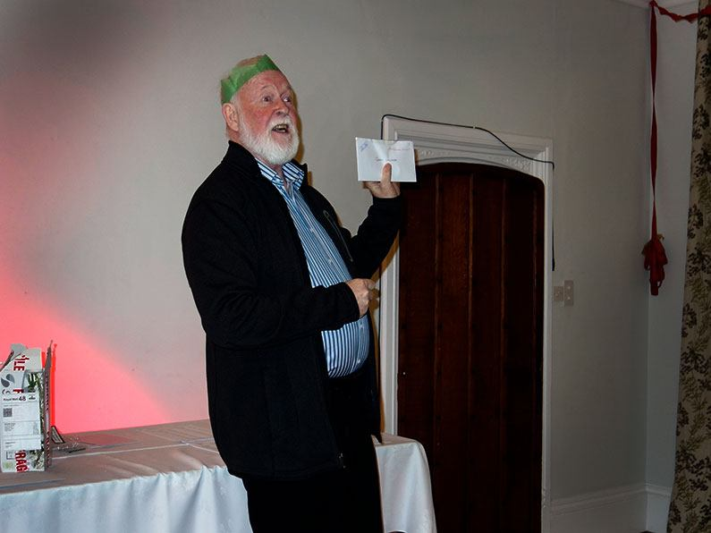 Gerry presenting the awards from the Bowmen of Danesfieldristmas-awards-001