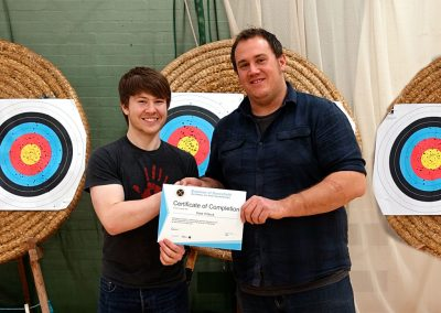 Addy Presenting Dave Pittock With Beginners Certificate Bowmen Of Danesfield 001