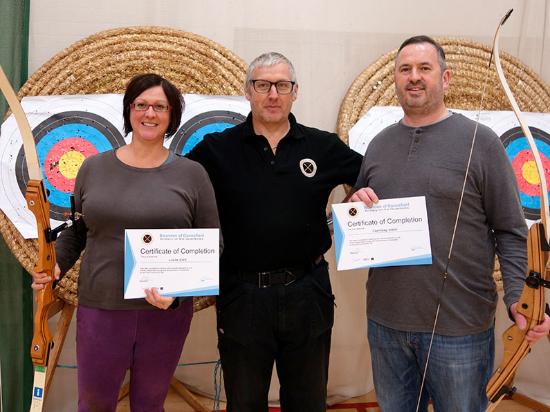 Archery Beginners Course Success - Kevin Eloise Lia Susie Rowan Sallyann Beginners Award Bowmen Of Danesfield