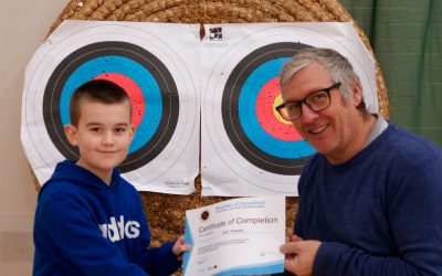 Will has passed his Archery Beginners Course