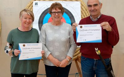 Well Done Gill and Eric – Archery Beginners Course