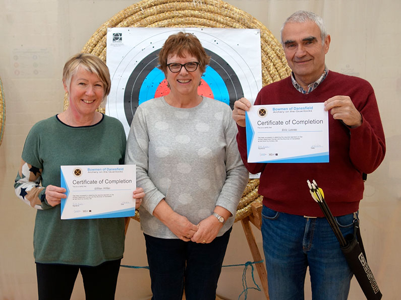 Well Done Gill and Eric - Archery Beginners Course