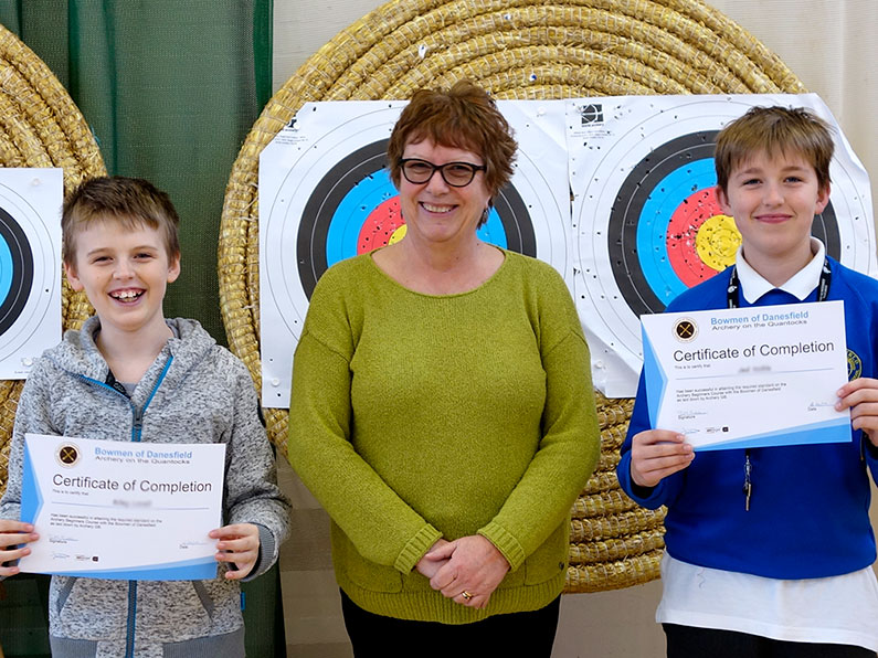 WilRiley and Jed have passed the Archery Beginners Course