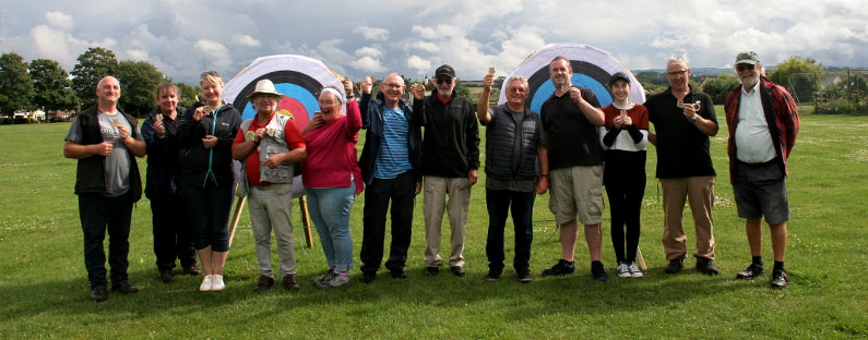 The Friendly Shoot - award winners - Bowmen of Danesfield and West Somerset Company of Archers