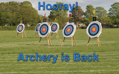 Hooray! Archery is Back