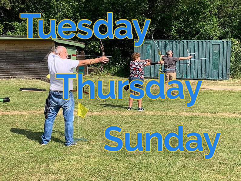 Thursday Tuesday Sunday Archery