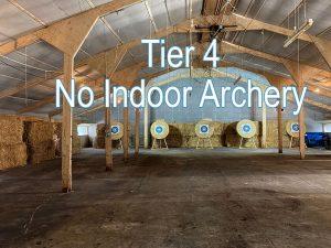 Covid-19 No Indoor Archery